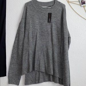 Ambiance Apparel Grey Tunic Sweater
